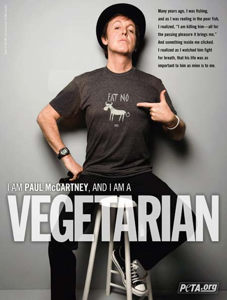 Paul Mc Cartney attivista PETA